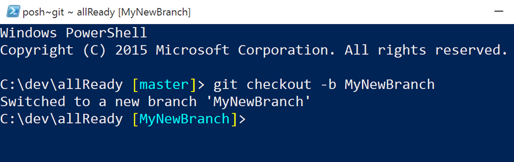 Create new branch
