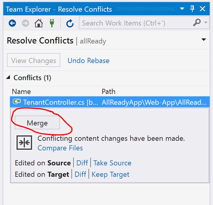 Open merge tool