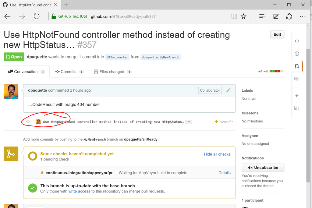 Submitting Your First Pull Request | Dave Paquette