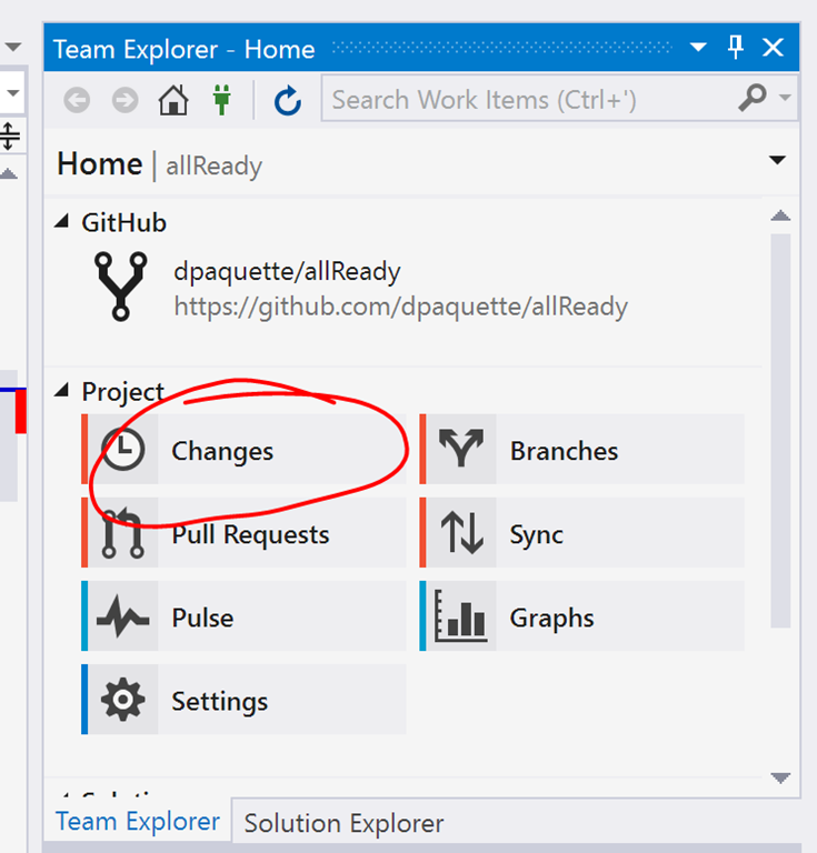 Visual Studio Team Explorer