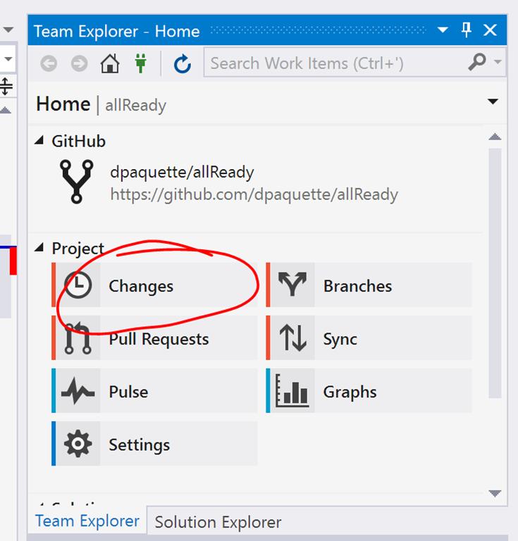 Visual Studio Team Explorer