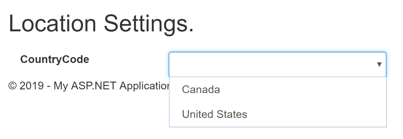 Country Dropdown