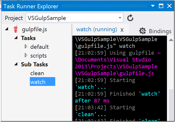How to use Gulp in Visual Studio | Dave Paquette