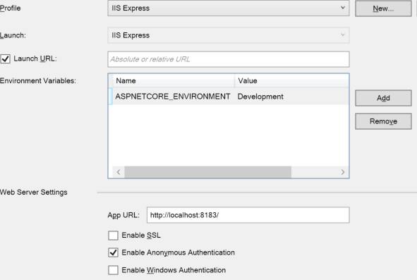 ASPNETCORE_ENVIRONMENT Variable